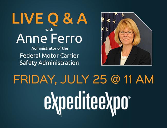FMCSA's Anne Ferro 2014 Expedite Expo