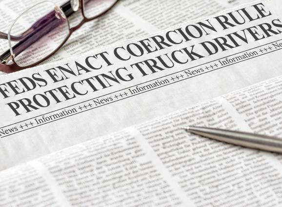 Feds Enact Coercion Rule Protecting Truck Drivers