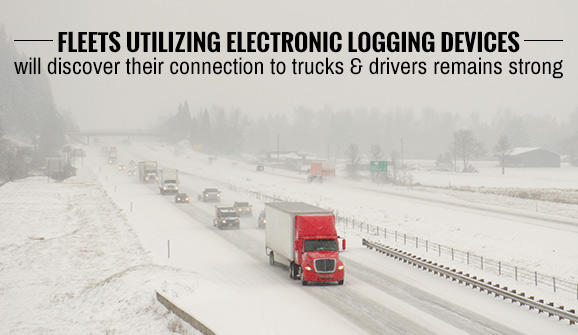 Last week's blizzards created hazardous weather conditions for trucks.