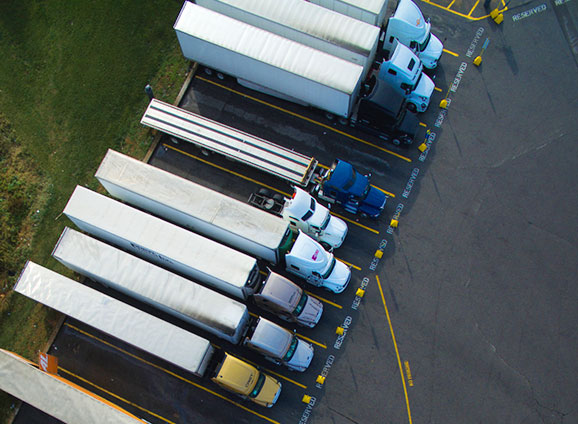 Photo of a fleet of trucks