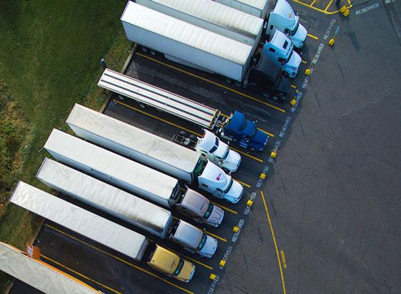 Photo of a fleet of trucks