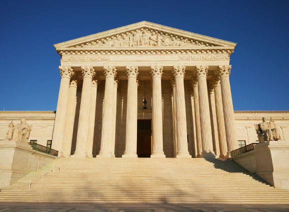 Supreme Court building / ruling on ELD mandate