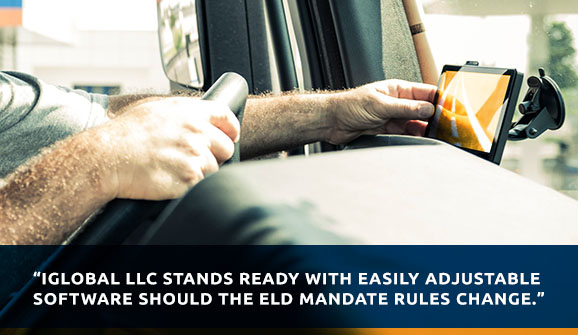iGlobal LLC stands ready with easily adjustable software should the ELD mandate rules change.