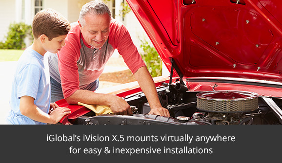 iGlobal's iVision X.5 mounts virtually anywhere for easy and inexpensive installations.